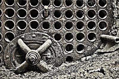 Dust Jacket Photograph - Old Furnace 6836 by Karen Celella