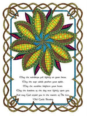 Old Gaelic Blessing Art Print