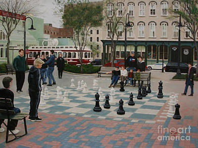 Old Galveston Square Art Print by Jimmie Bartlett