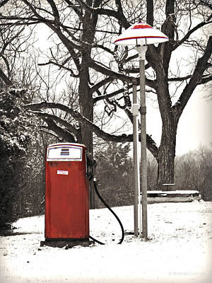 Old Gas Pump Art Print