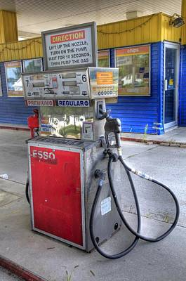 Photograph - Old Gas Pump by Bryan Davies