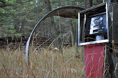 Photograph - Old Gas Pump In The Montana Woods by Bruce Gourley