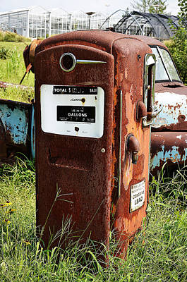 Art Print featuring the photograph Old Gas Pump by Paul Mashburn