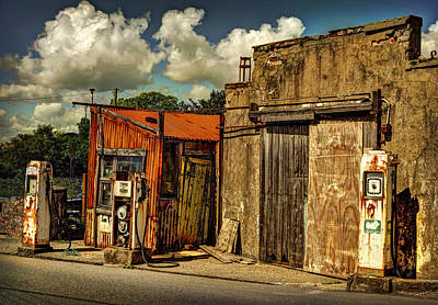 Photograph - Old Gas Station by Mal Bray