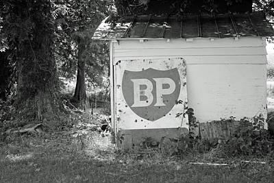 Old Gas Station Sign Art Print by Carolyn Ricks