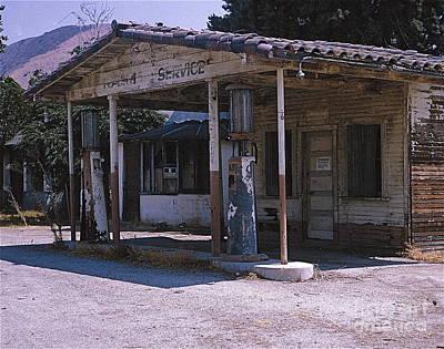 Old Gas Station Ventura Blvd Ca Art Print