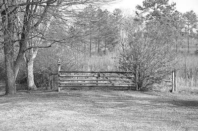 Thomas Kinkade Royalty Free Images - Old Gate Royalty-Free Image by Kathy-Lynn Brown