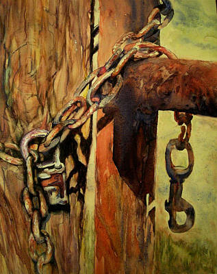 Wall Art - Painting - Old Gatekeeper by Beverly Berwick