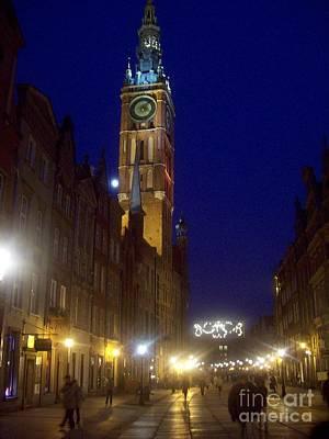 Old Gdansk November Nights Art Print