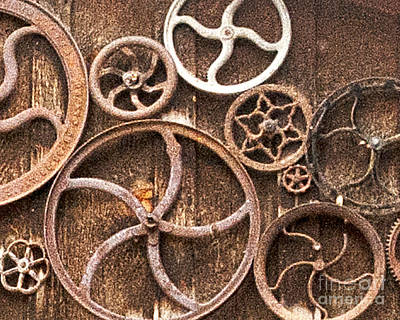 Photograph - Old Gears In Genoa Nevada by Artist and Photographer Laura Wrede