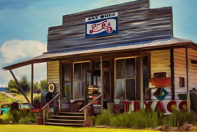 Pepsi Sign Painting - Old General Store  by Lori Jill DiBiase