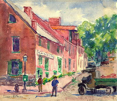Streetlight Photograph - Old Georgetown Dc 1910 by Padre Art