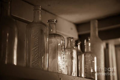 Old Glass Bottles Art Print by Edward Fielding