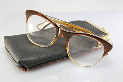 Leather Photograph - Old Glasses Of An Old Man With Leather Case by Fed Cand