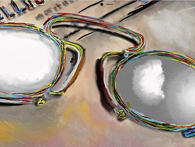Reflexions Digital Art - Old Glasses by Ricardo Mester