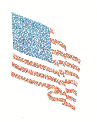 Drawing - Old Glory by Bethany Martin