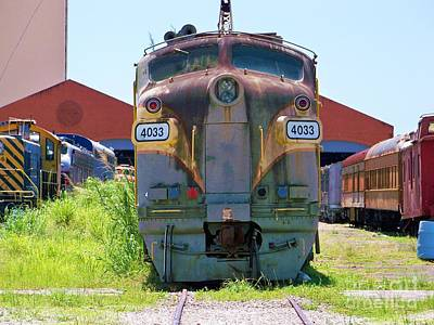 Old Caboose Photograph - Old Glory by Chuck  Hicks