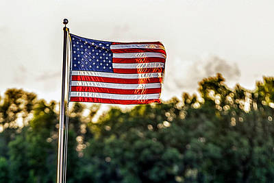 Photograph - Old Glory Flying High And Proud by Sennie Pierson