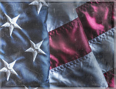Photograph - Old Glory Grunge by Heidi Smith