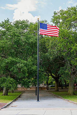 Art Print featuring the photograph Old Glory High And Proud by Sennie Pierson