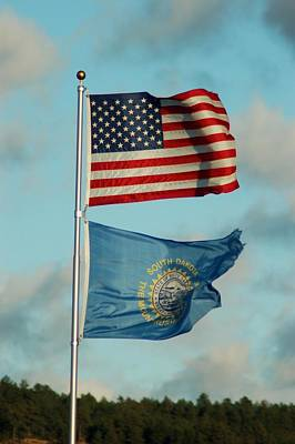 Photograph - Old Glory In The Dakota Wind by Dakota Light Photography By Dakota