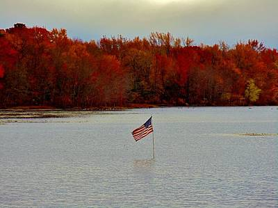 Photograph - Old Glory In The Fall by Ed Sweeney