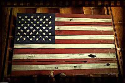 Photograph - Old Glory In Wood by Mick Anderson
