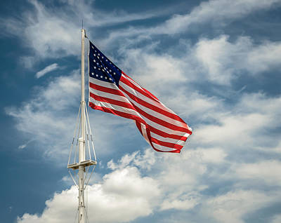 Old Glory Art Print by James Barber