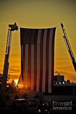 Art Print featuring the photograph Old Glory by Jim Lepard