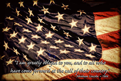 Old Glory Military Tribute Art Print