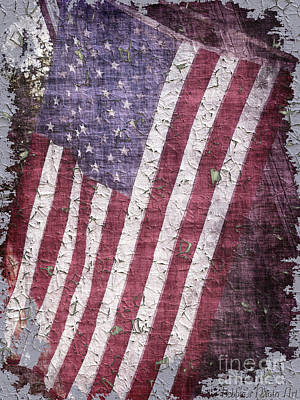 Photograph - Old Glory   Peeling Paint by Debbie Portwood