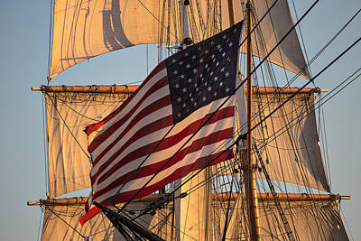 Old Glory Print by Peter Tellone