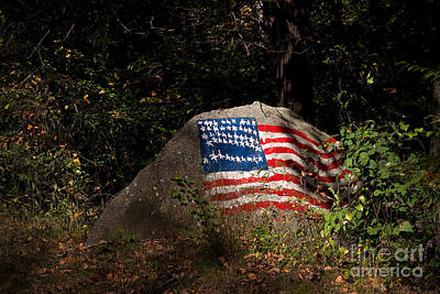 Photograph - Old Glory Rocks by T Lowry Wilson