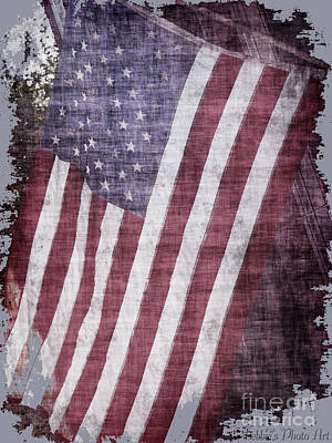 Photograph - Old Glory Rustic by Debbie Portwood