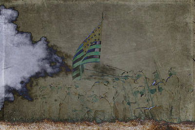 Old Glory Standoff Art Print by Wes and Dotty Weber
