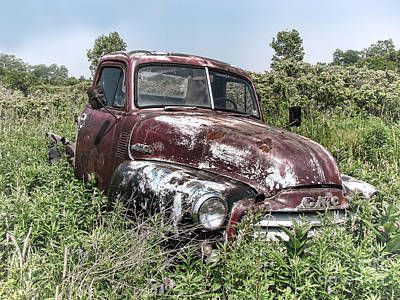 Photograph - Old Gmc Truck by Olivier Le Queinec