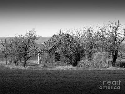 Photograph - Old Goldendale Homestead Bw 1 by Chalet Roome-Rigdon