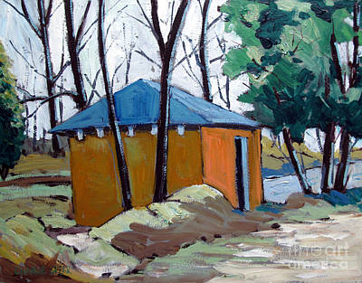 Old Golf Course Shed No.5 Art Print by Charlie Spear