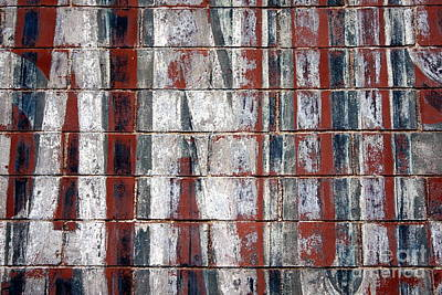Old Graffit On Brick Wall Art Print by Sophie Vigneault