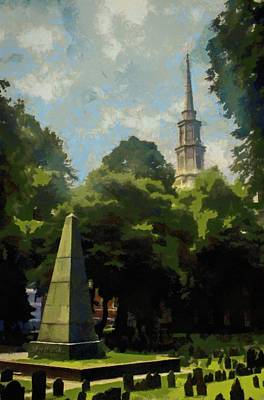 Painting - Old Granery Burying Ground by Jeffrey Kolker