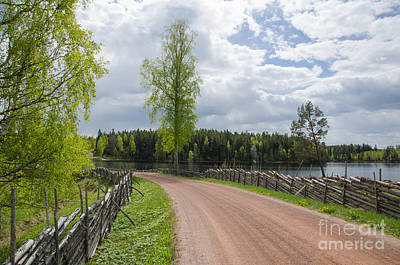 Photograph - Old Gravel Road By The Lake by Kennerth and Birgitta Kullman