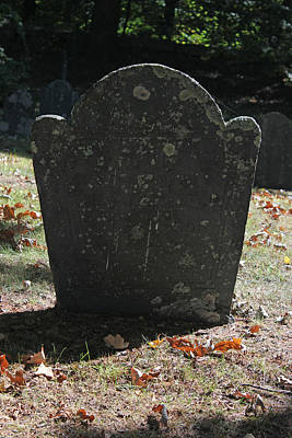 Photograph - Old Gravestone 3 by Mary Bedy