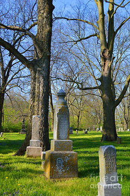 Indiana Photograph - Old Gravestones by Alys Caviness-Gober