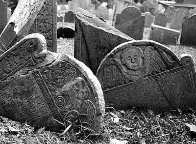 Photograph - Old Graveyard In Boston by Mary Bedy