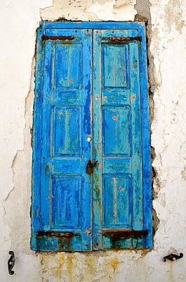 Photograph - Old Greek Shutter by Corinne Rhode