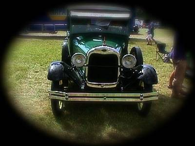 Photograph - Old Green Car by Amazing Photographs AKA Christian Wilson