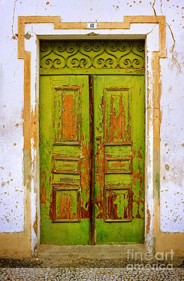 Traditional Doors Photograph - Old Green Door by Carlos Caetano