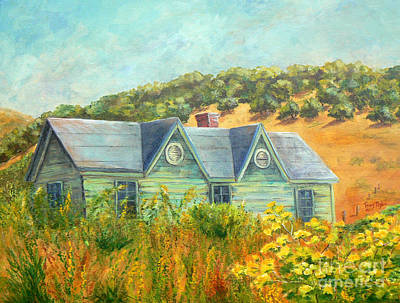 Painting - Old Green House On The Hill by Terry Taylor