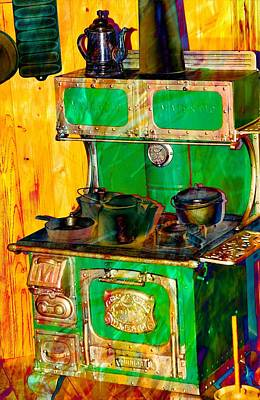 Photograph - Old Green Stove by Bob Pardue