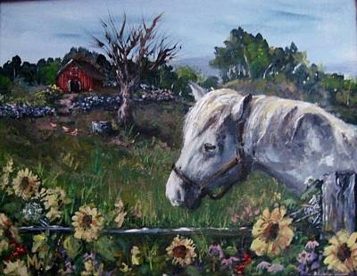 Art Print featuring the painting Old Grey Mare by Megan Walsh
